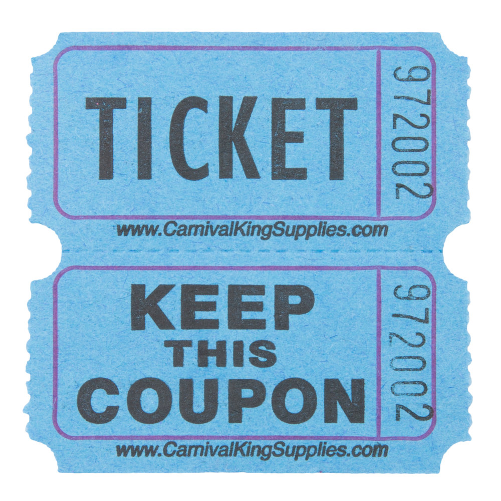 carnival king blue part raffle tickets roll main picture