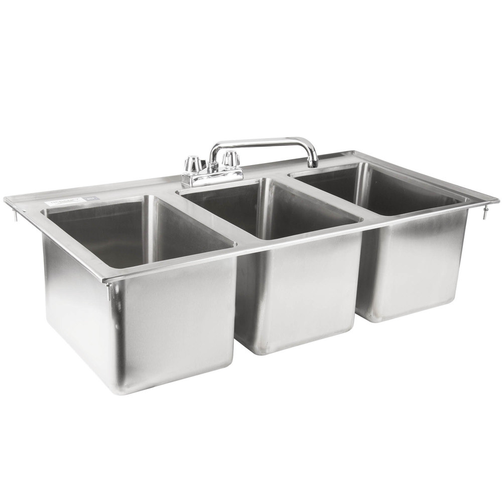 Three Compartment Kitchen Sink