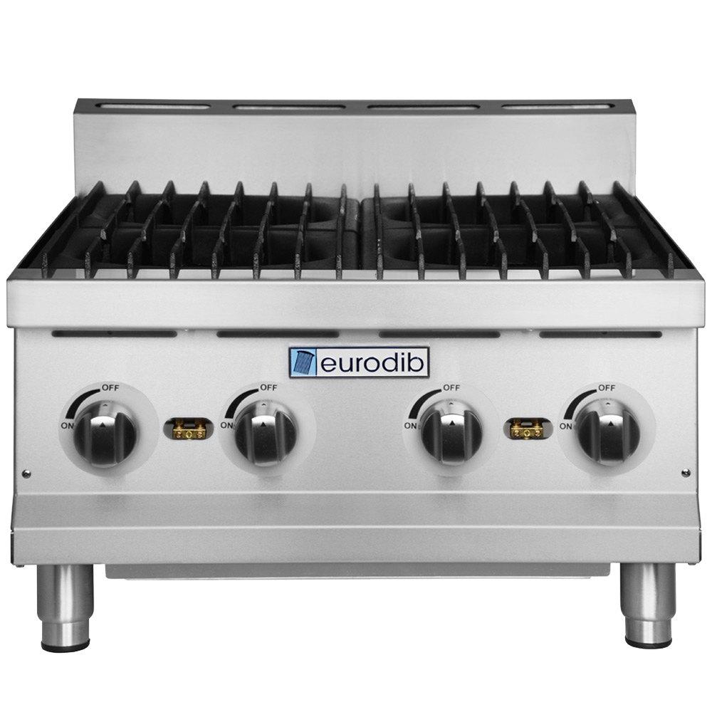 Countertop Range Gas : Eurodib HP424 24