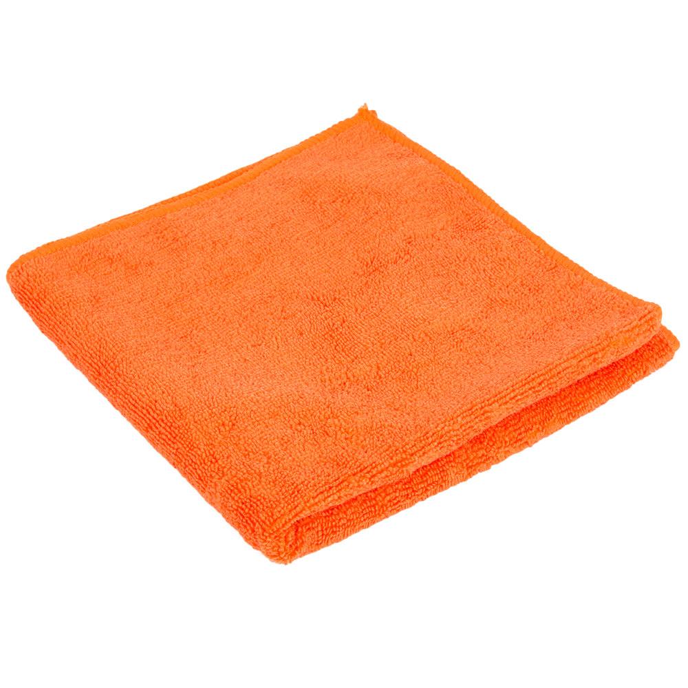 "Microfiber Cloth Guide: 16"" X 16"" Orange Microfiber Cleaning Cloth"