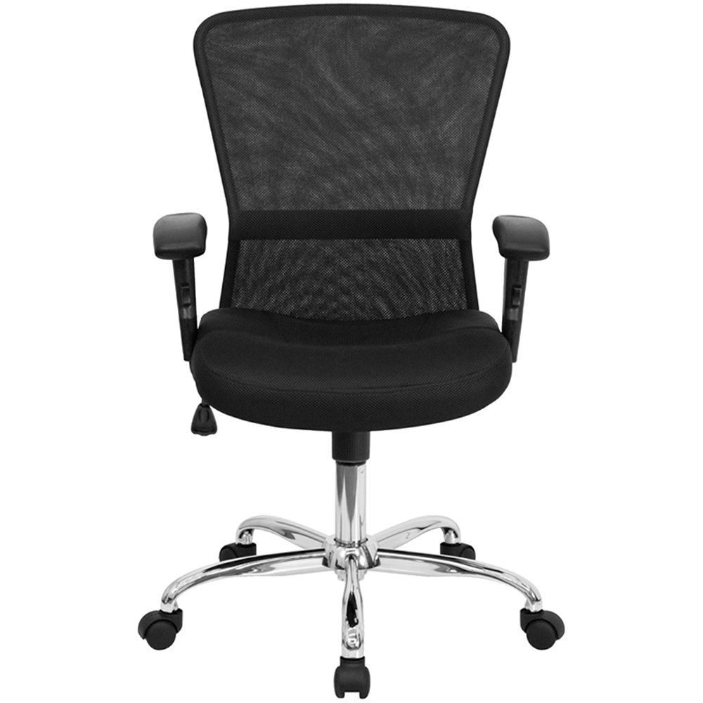 Mid Back Black Mesh Office Computer Chair With