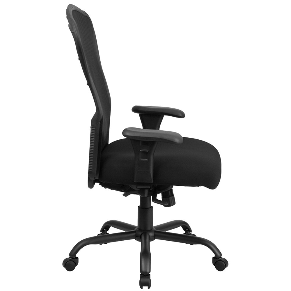 back black mesh intensive use multi functional swivel office chair