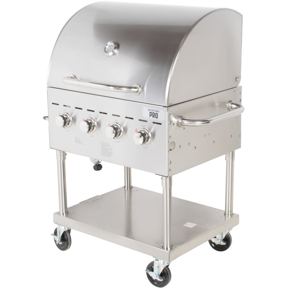 backyard pro c3h830del deluxe 30 stainless steel outdoor grill with