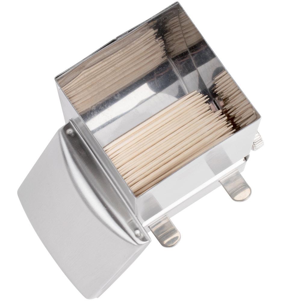 Tablecraft 236 stainless steel toothpick dispenser - Stainless steel toothpick dispenser ...