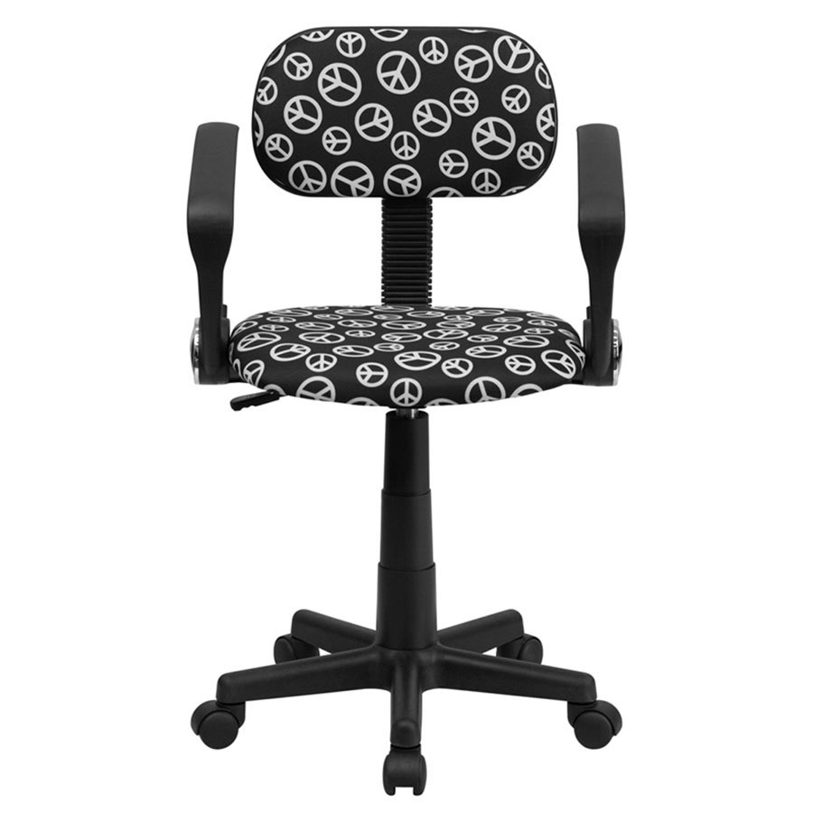 Flash Furniture Zebra Print Computer Chair With Arms Green