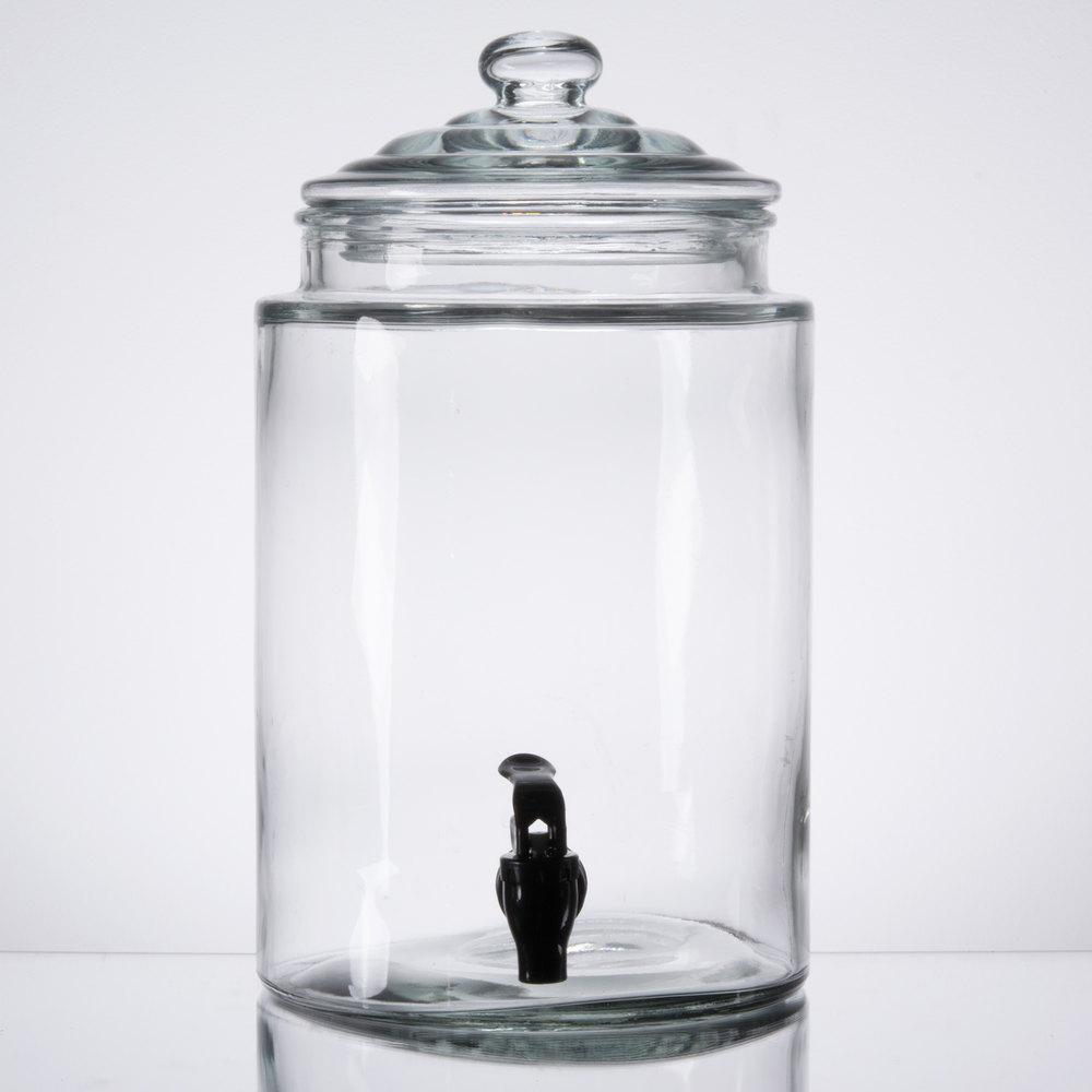 core gallon glass beverage dispenser with metal stand. Black Bedroom Furniture Sets. Home Design Ideas