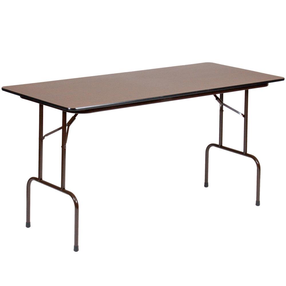 correll cfs3072m 30 x 72 walnut melamine folding table