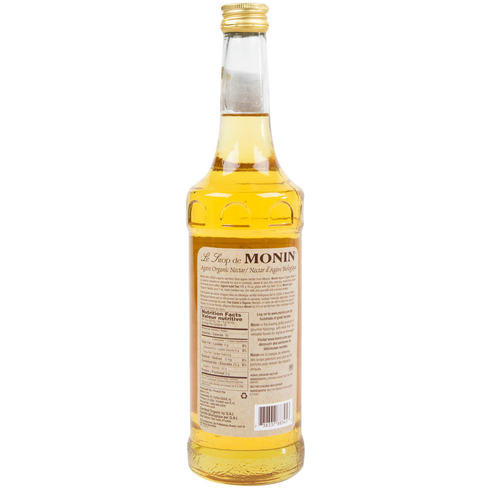 Monin 750 mL Organic Agave Nectar Flavoring Syrup