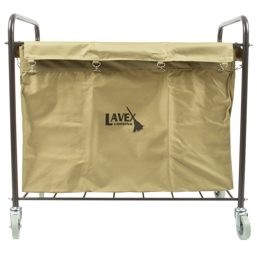 Lavex Laundry Cart Trash Cart 12 Bushel Metal And