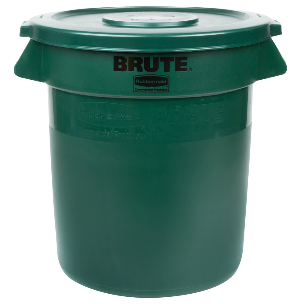 brute 10 gallon trash can with lid