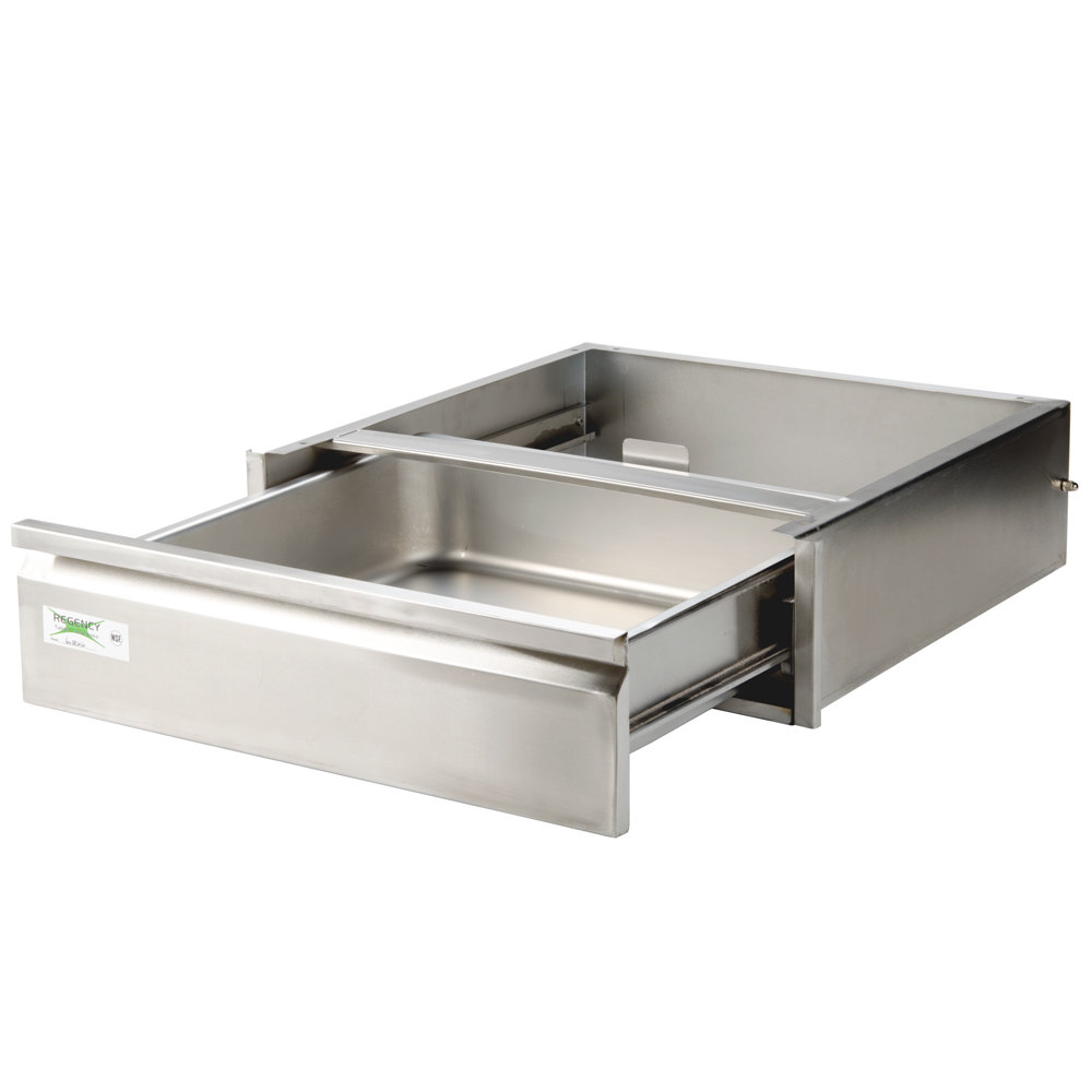 regency 20 x 20 x 5 drawer with stainless steel front
