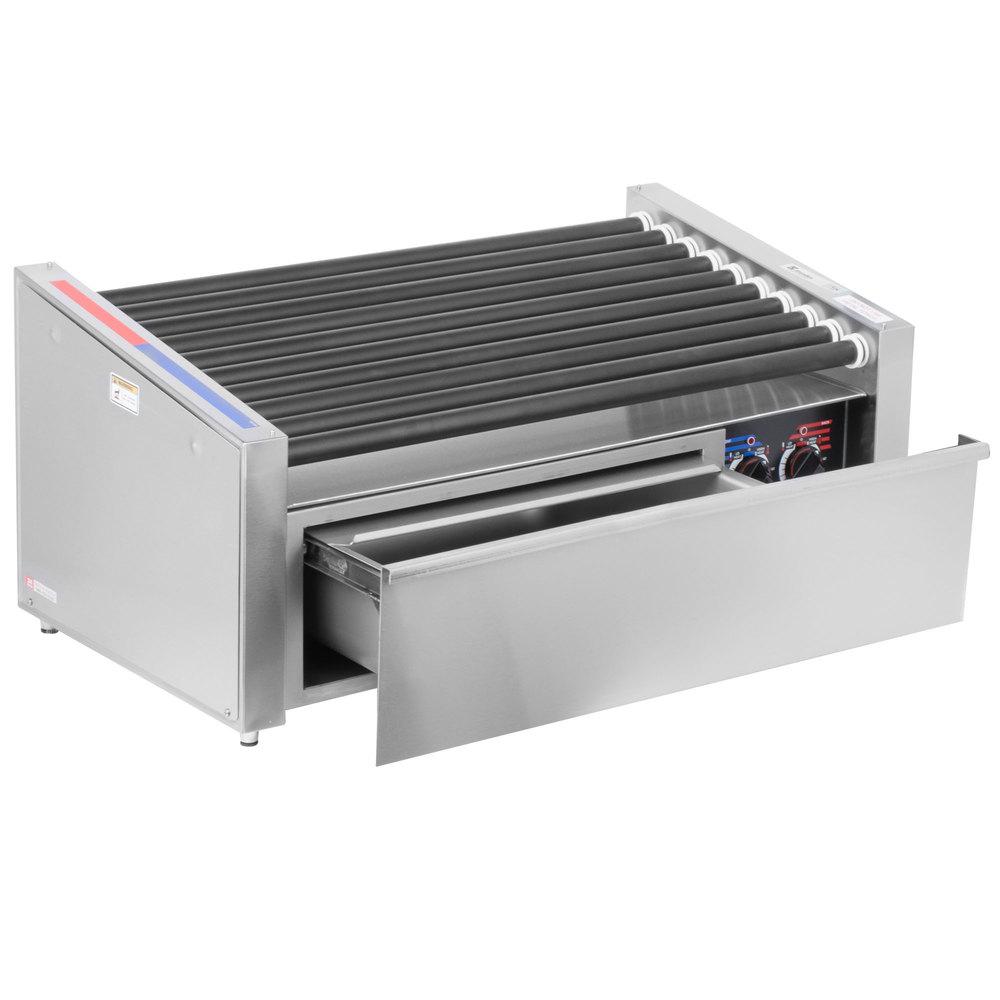 Apw wyott hr 50sbw 35 hot dog roller grill with slanted - Hot dog roller grill with bun warmer ...