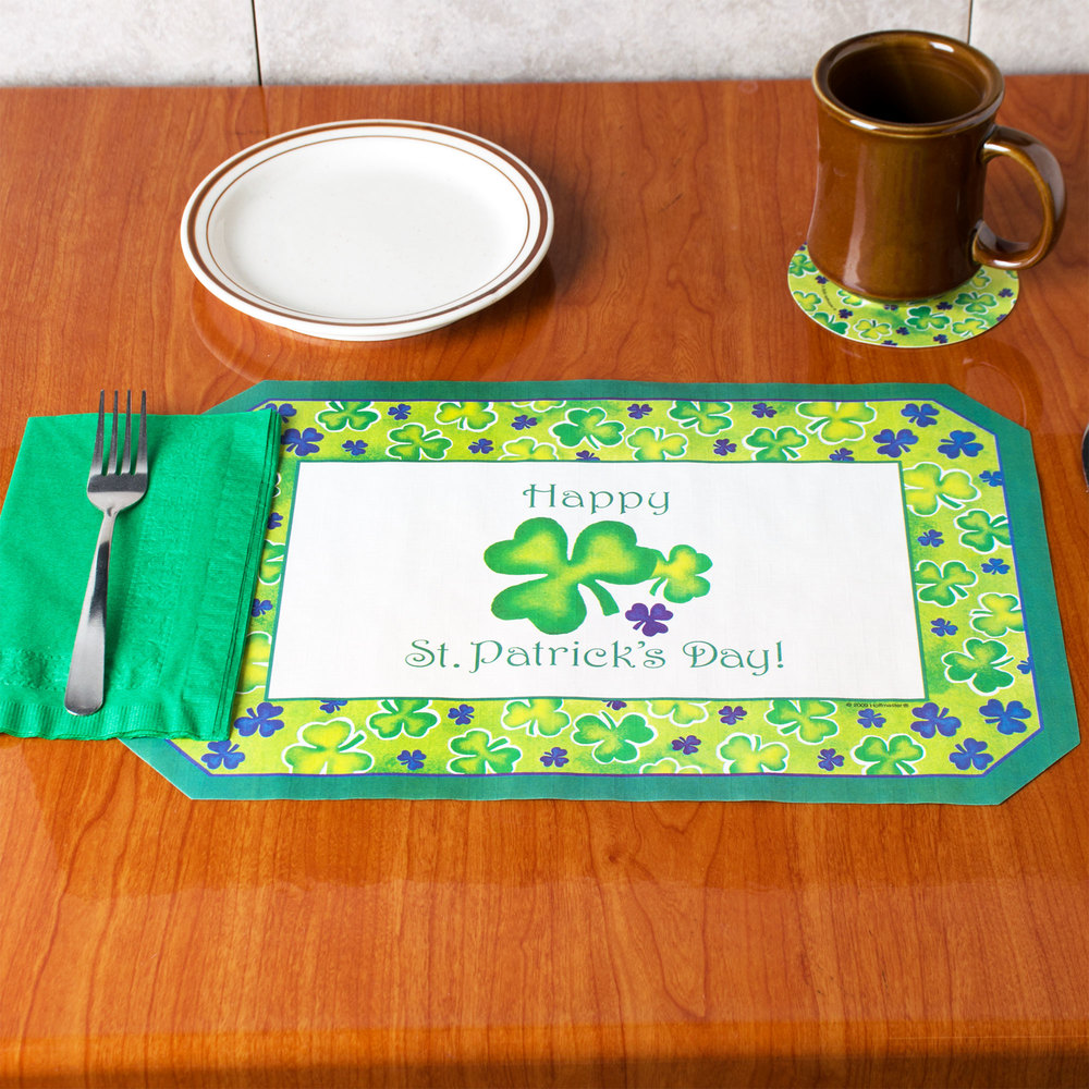 hoffmaster 856719 10 x 14 st patrick 39 s day placemat combo pack 200 case