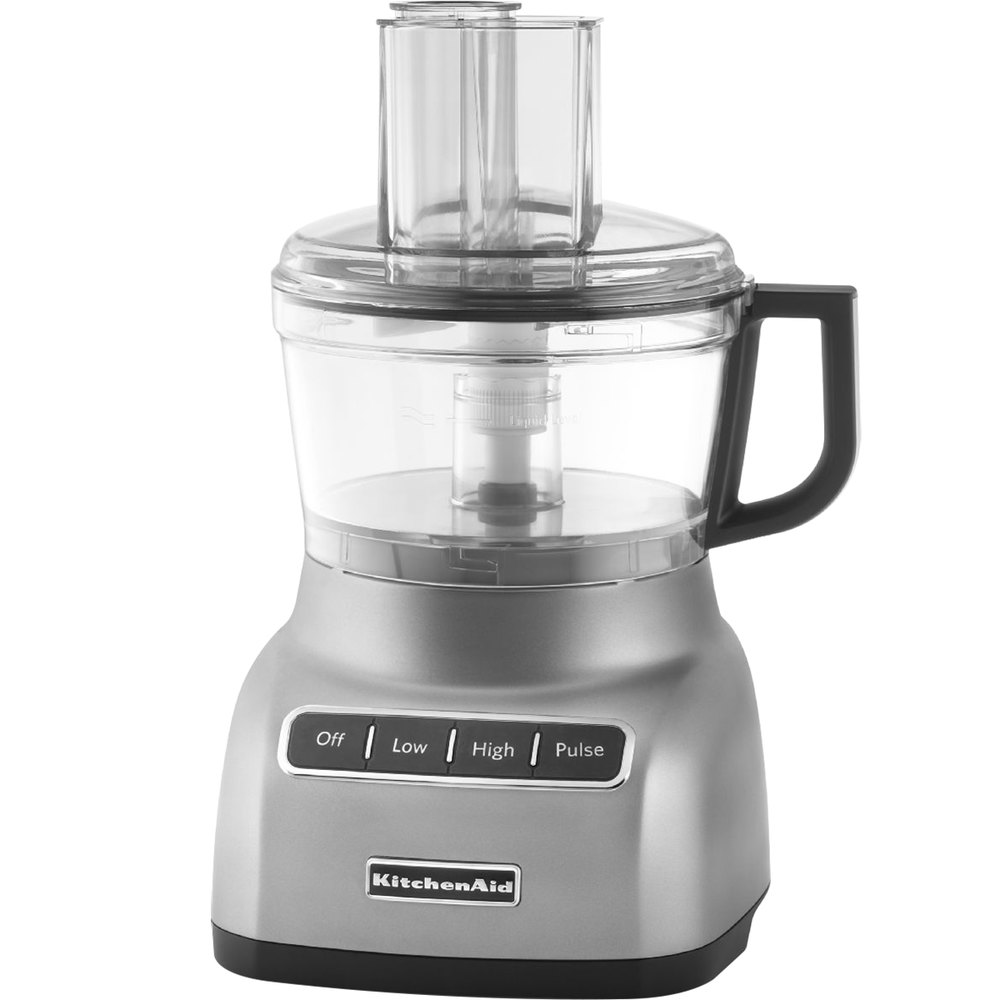 Kitchenaid kfp0711cu contour silver 7 cup food processor for Kitchenaid food processor