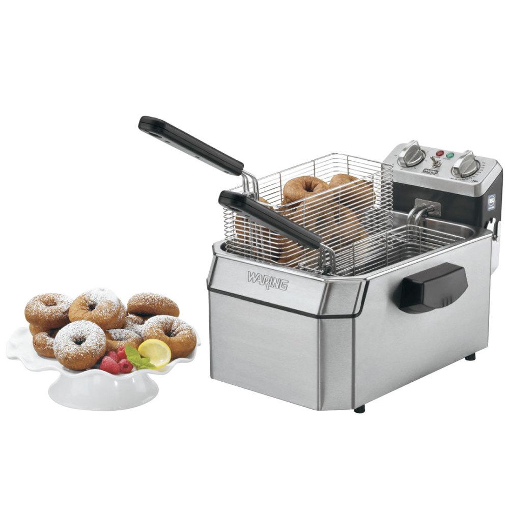 Countertop Deep Fryer : Waring WDF1550 15 lb. Commercial Countertop Deep Fryer - 240V