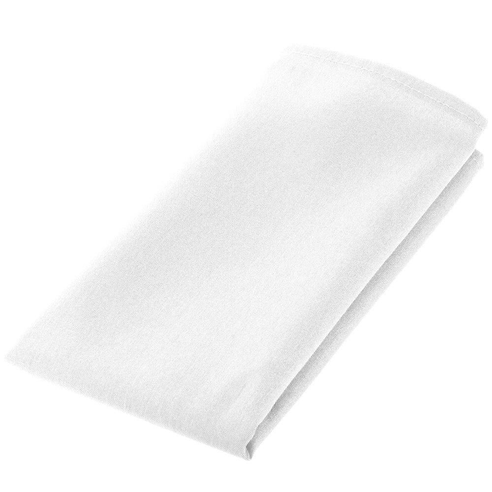 White napkin 50 50 cloth poly cotton napkin 12 pack for White cotton table cloth