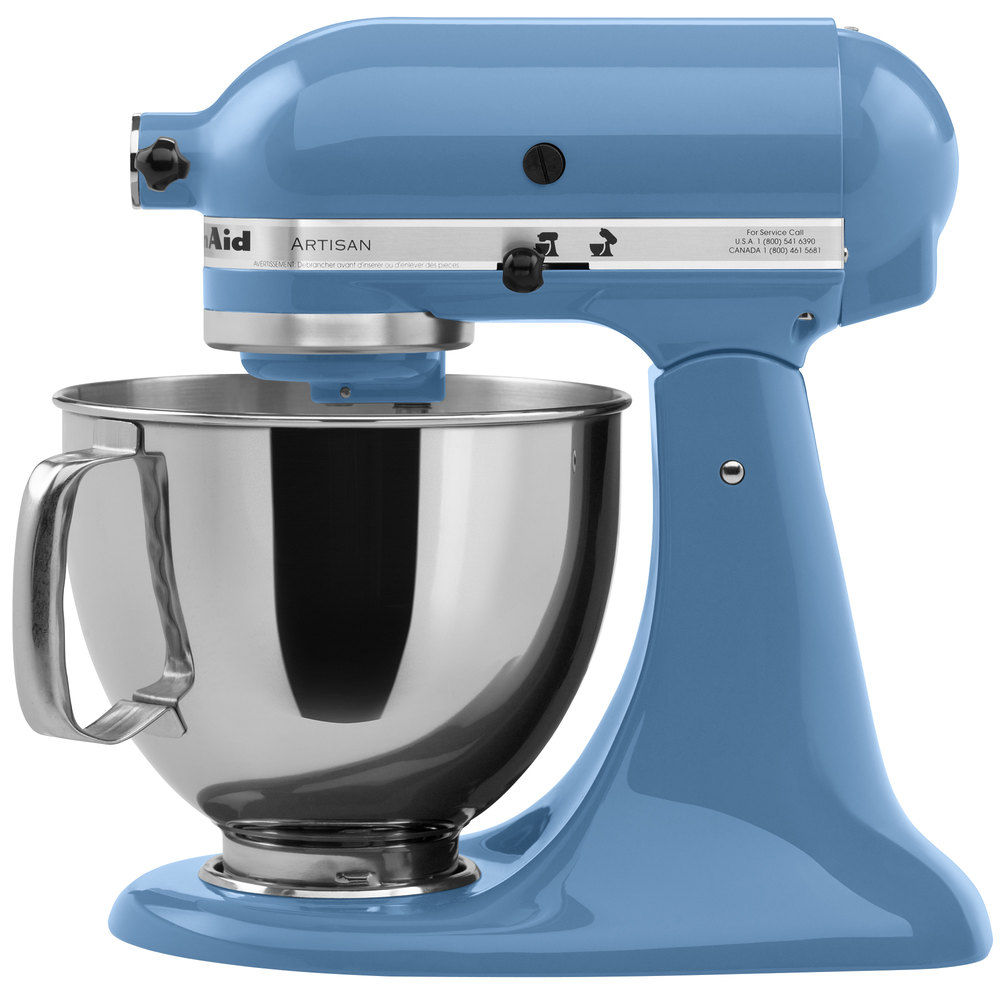 ... KSM150PSCO Cornflower Blue Artisan Series 5 Qt. Countertop Mixer