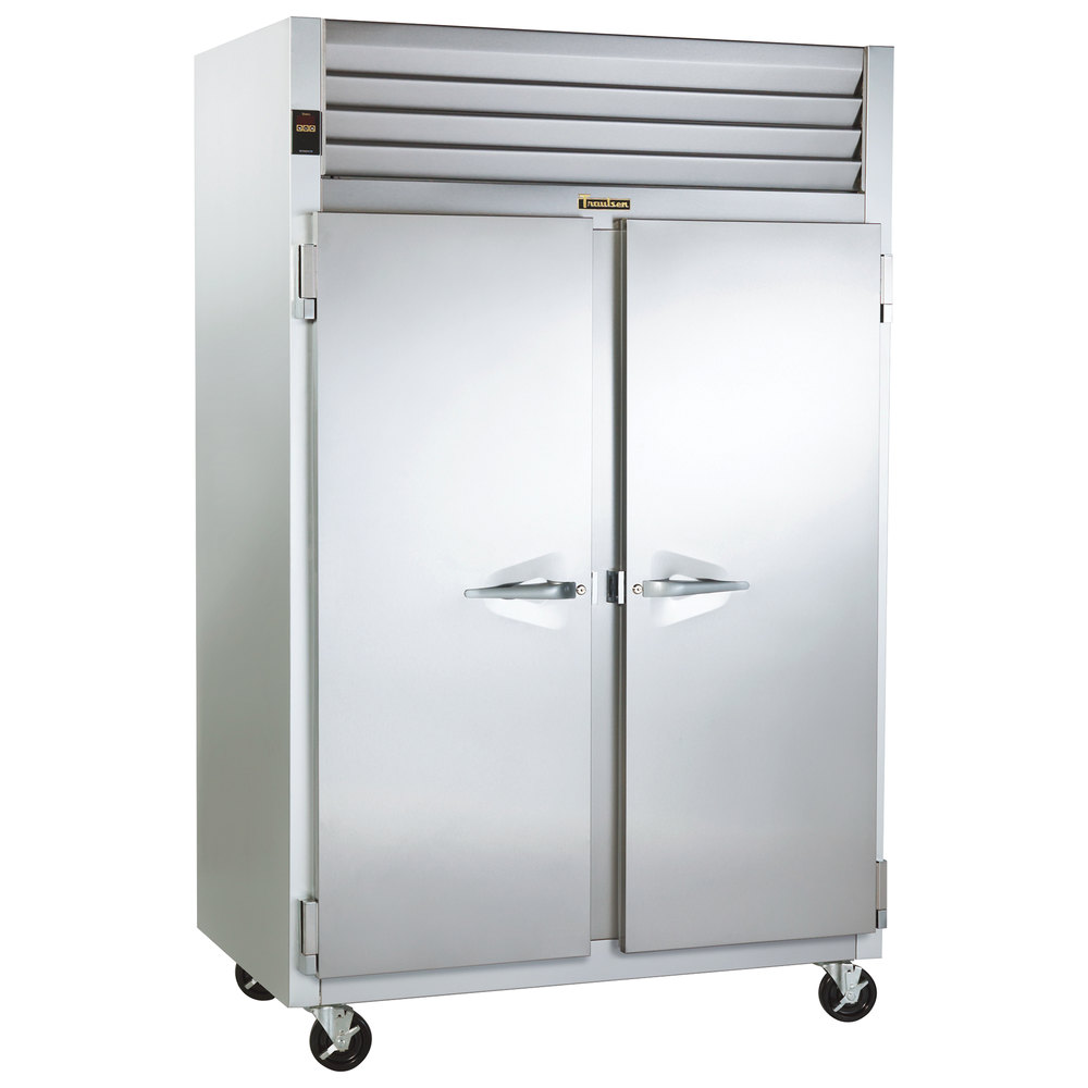 Hot Holding Cabinet Traulsen G24310 Solid Door 2 Section Hot Food Holding Cabinet With