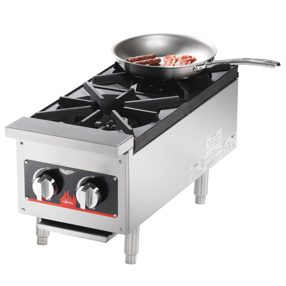 Countertop Gas Stove Portable : Vollrath 40736 2 Burner Countertop Range