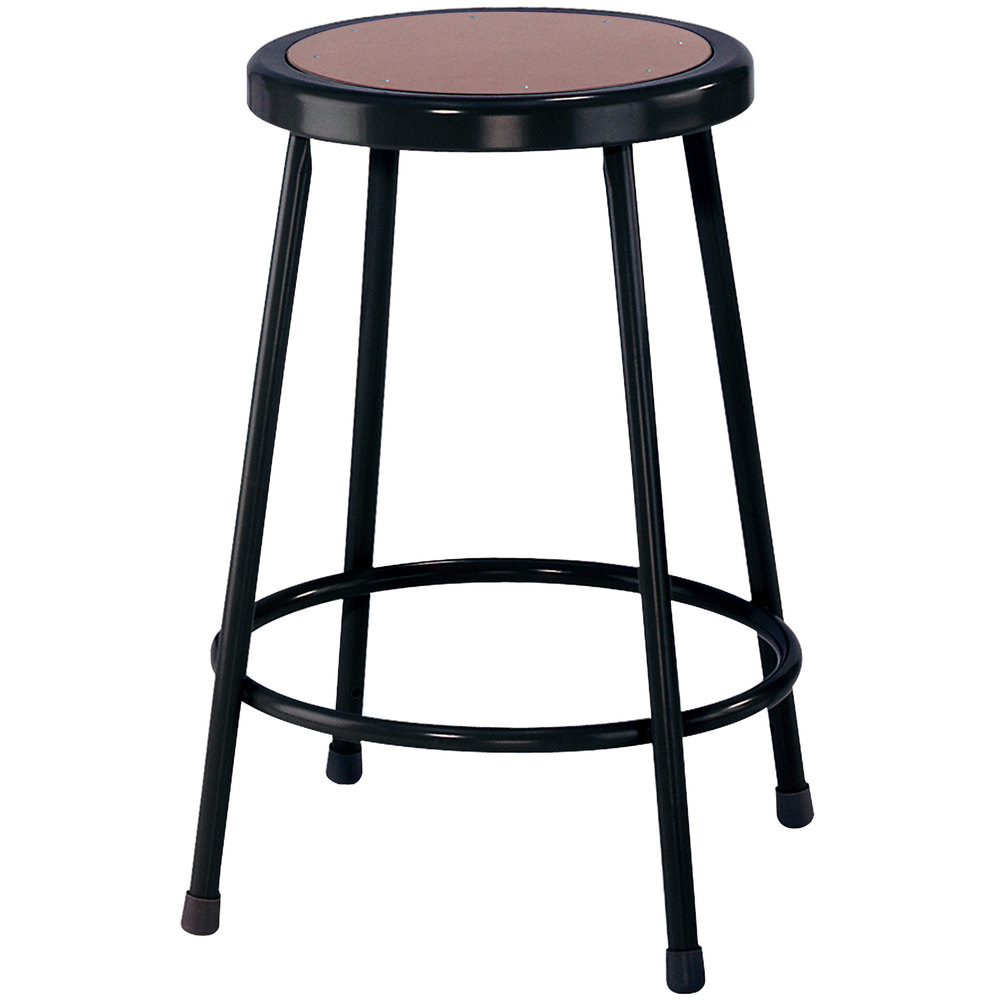 National Public Seating 6224 10 Black 24 Quot Hardboard Round