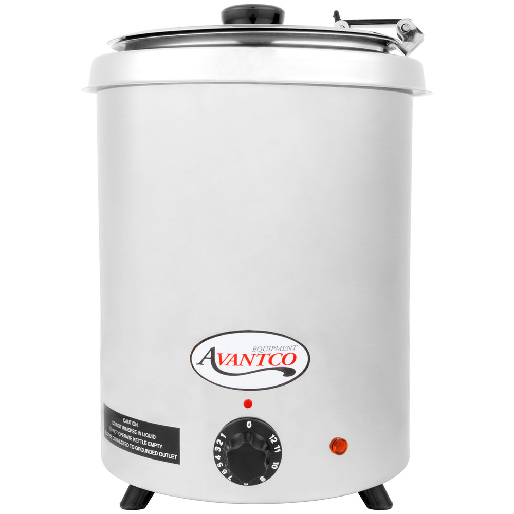 Stainless Steel Food Warmers ~ Avantco w ss qt round stainless steel countertop food
