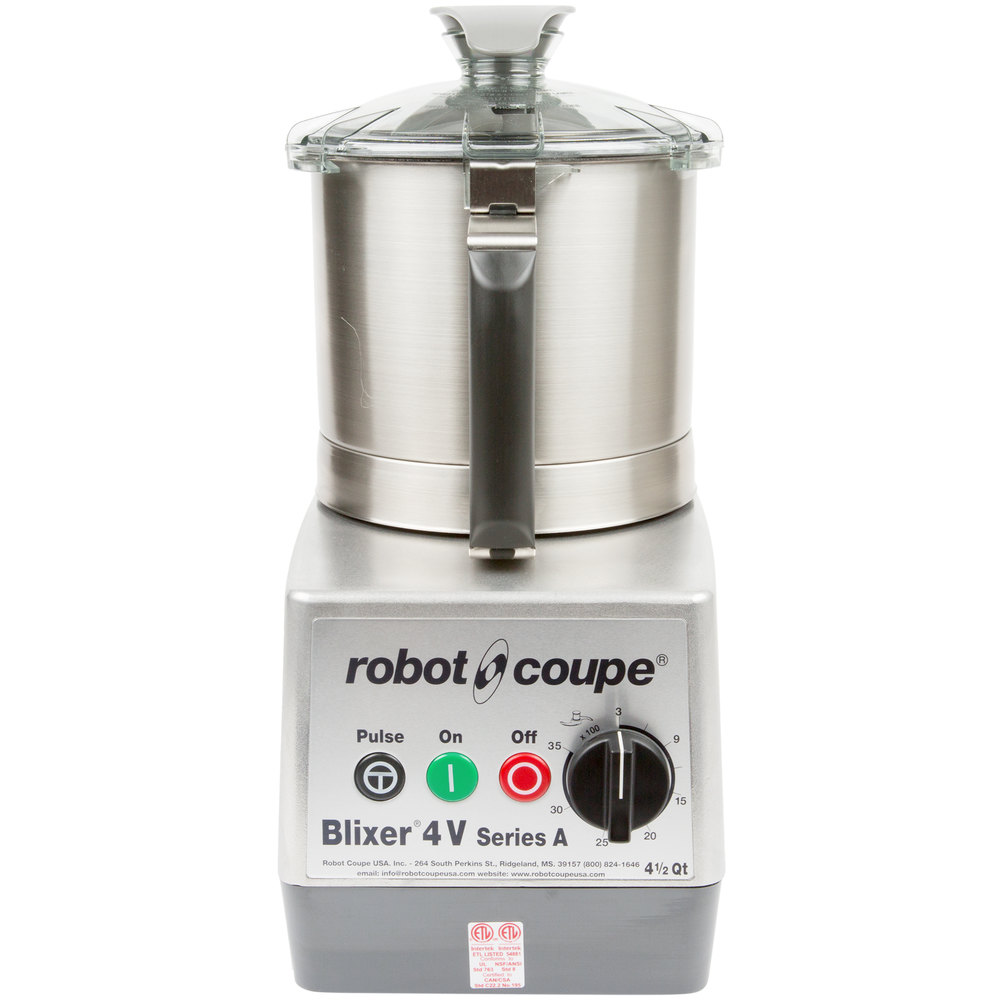 robot coupe blixer 4v variable speed food processor with 4 5 qt stainless steel bowl 2 hp. Black Bedroom Furniture Sets. Home Design Ideas