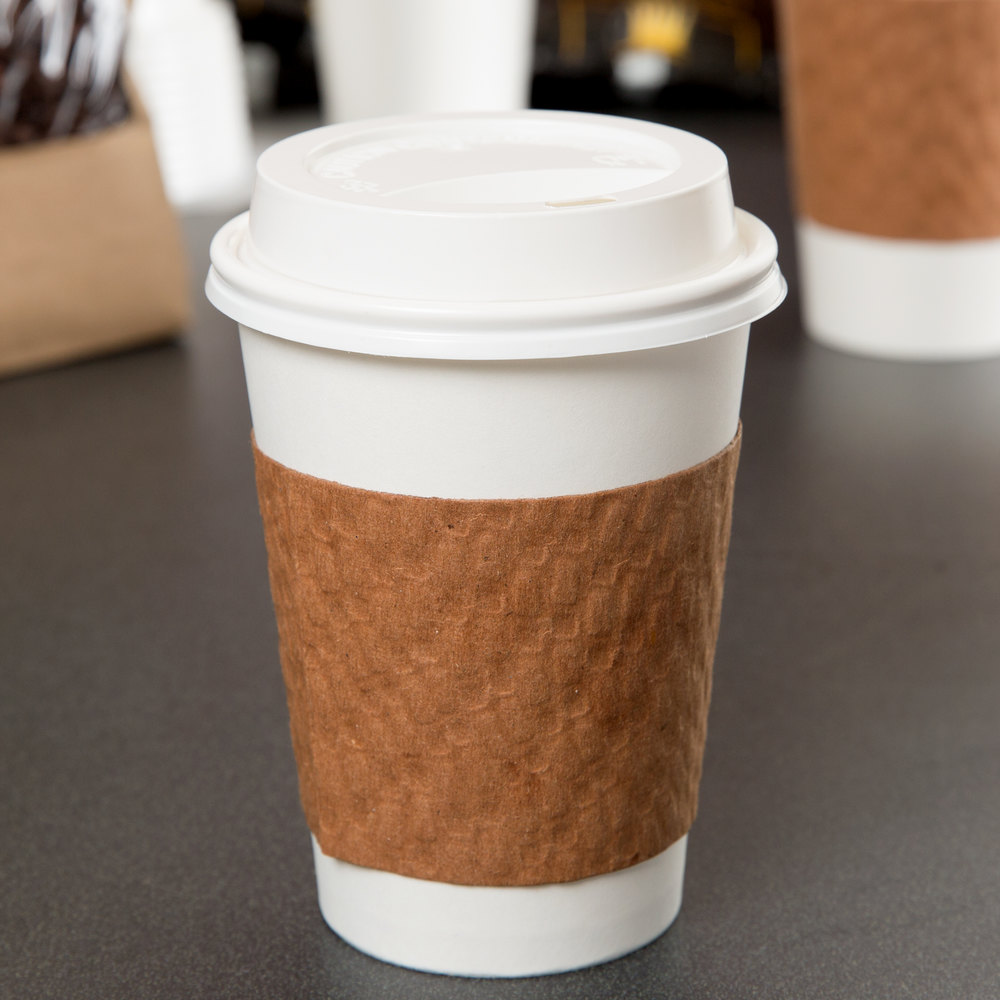 Choice 10, 12, 16, and 20 oz. White Hot Paper Cup Travel ...