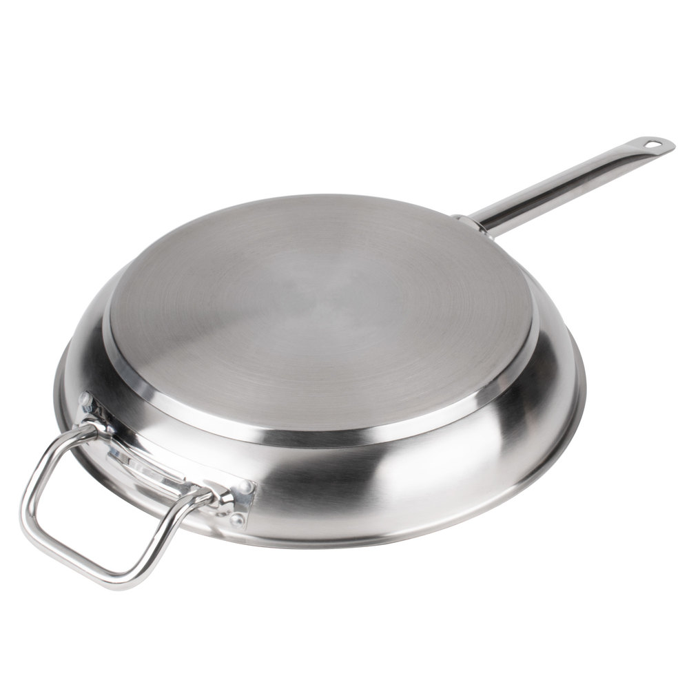Stainless Steel Metal Cladding : Quot non stick aluminum clad stainless steel fry pan with