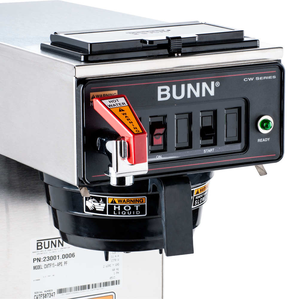 Bunn Coffee Maker Parts : Bunn 23001.0006 CWTF15-APS Automatic Airpot Coffee Brewer with Hot Water Faucet - 120V