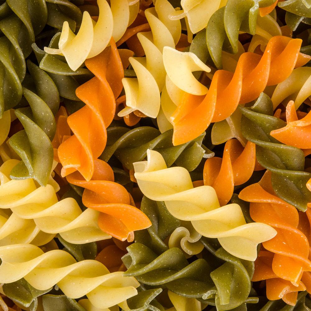 Tricolor Rotini Pasta - (12) 12 oz. Bags / Case
