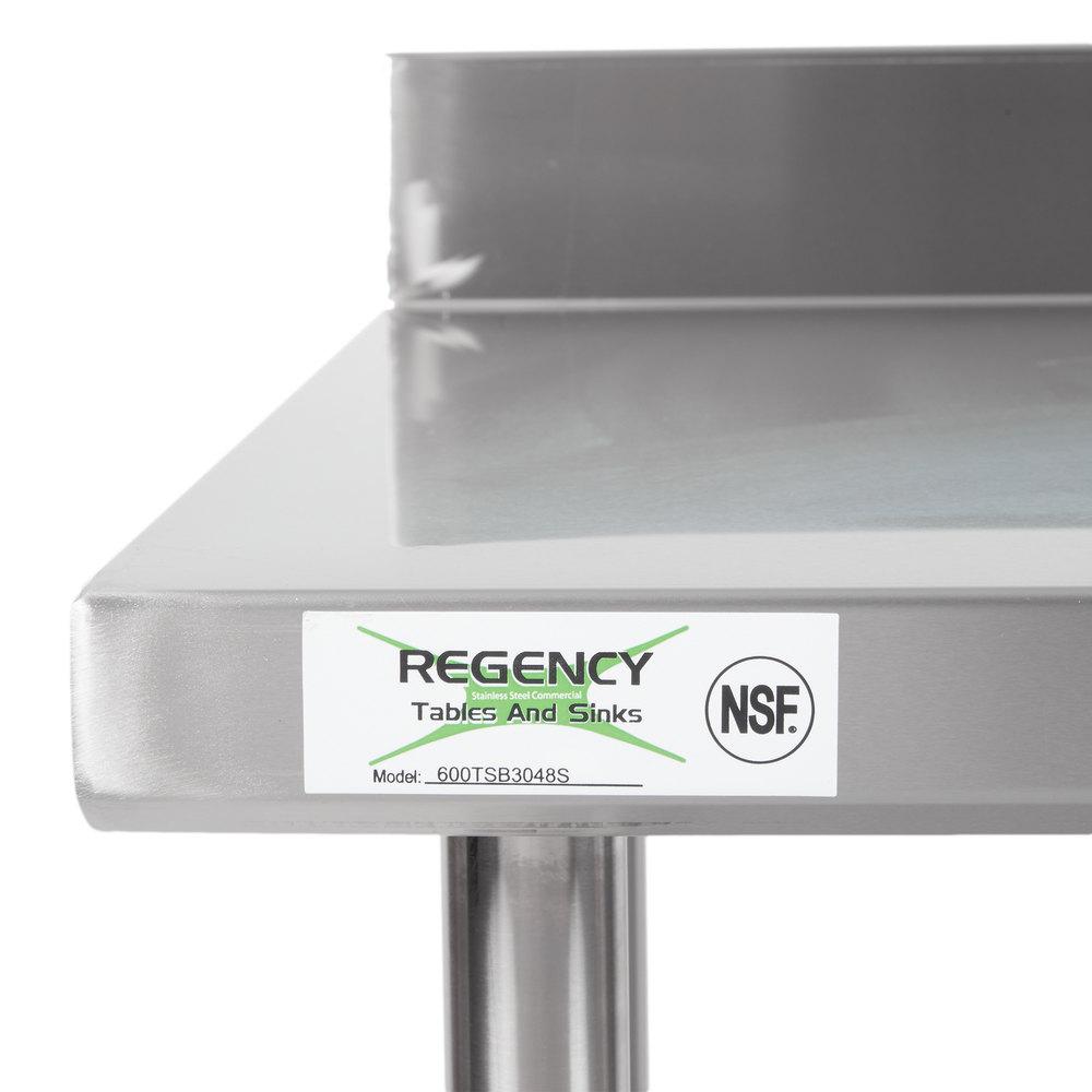regency 30 x 48 16 gauge stainless steel commercial work