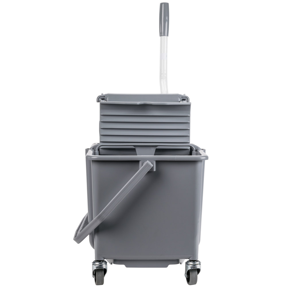 Unger Comsg 4 Gallon Gray Mop Bucket With Side Press Wringer