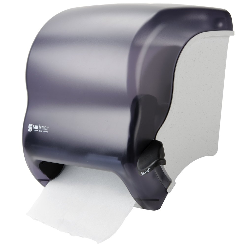 Commercial Touchless Paper Towel Dispenser ~ San jamar t tbk element roll towel dispenser black pearl