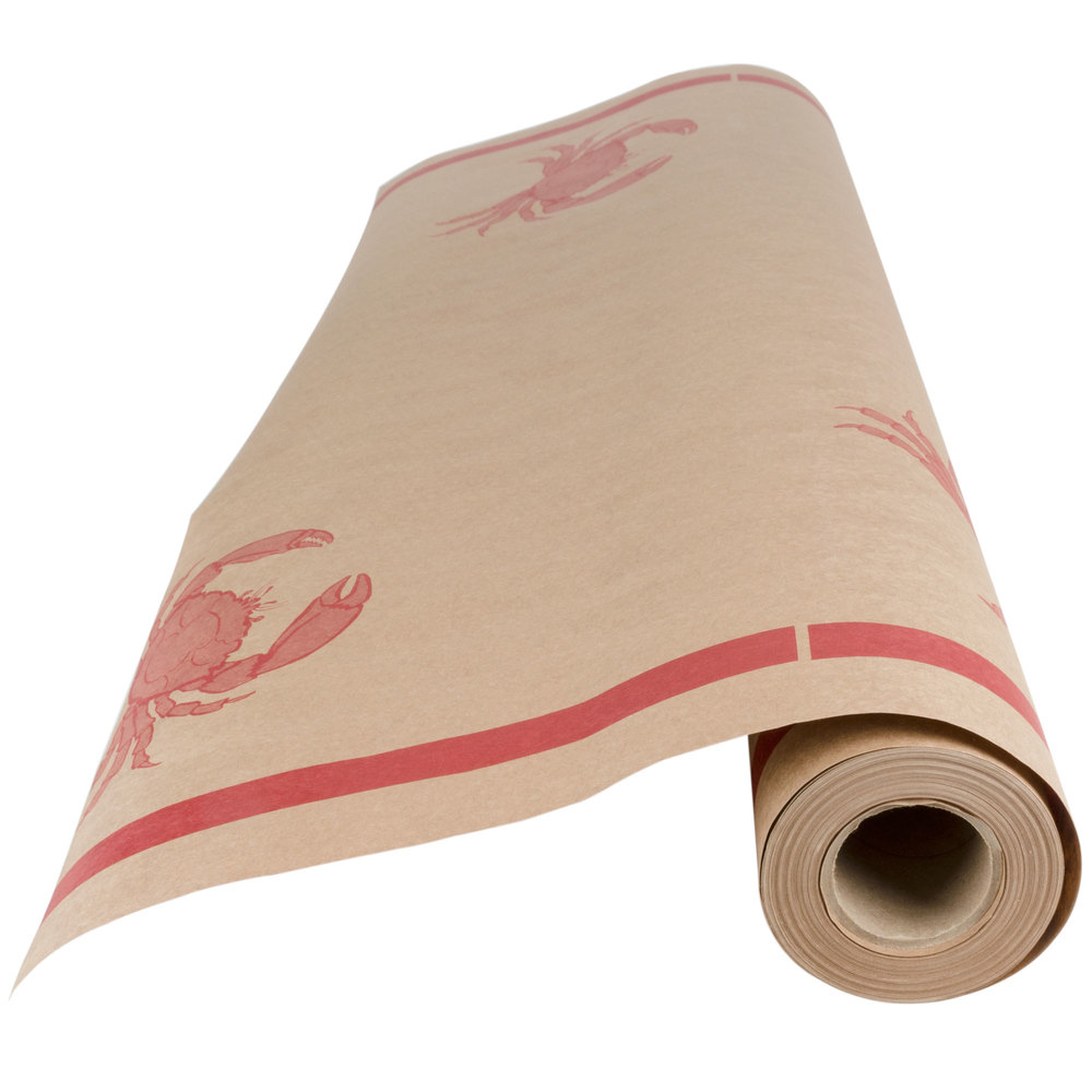 Buffet table skirting style - 40 Quot X 100 Paper Table Cover With Crab Pattern
