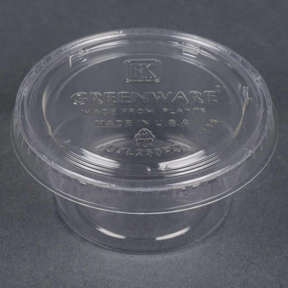 Fabri Kal Greenware Gxl250pc 2 Oz Compostable Clear