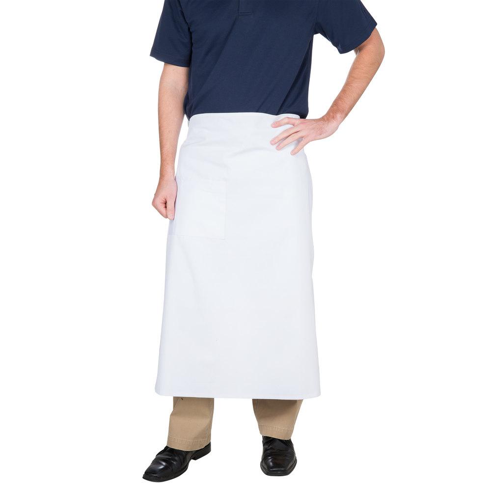 White neoprene apron - Choice White Bistro Apron With Pocket 34 Inchl X 30 Inchw