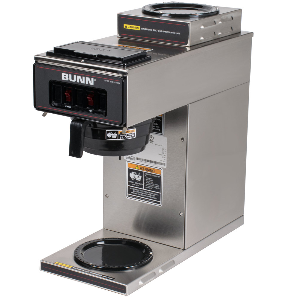 Bunn Coffee Maker Stx Manual : Bunn 13300.0002 VP17-2 SS Low Profile Pourover Coffee Brewer with 2 Warmers