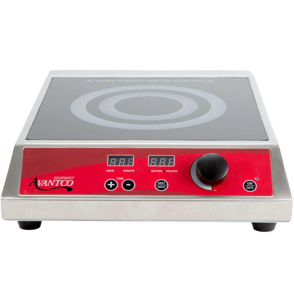 Countertop Induction Stove : Avantco IC1800 Countertop Induction Range / Cooker - 120V, 1800W