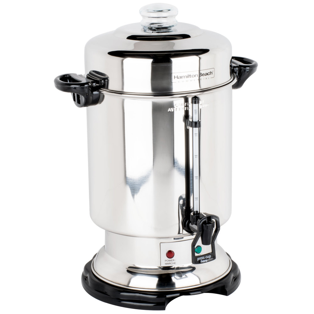 Coffee Maker For Large Party : Hamilton Beach D50065 60 Cup (2.5 Gallon) Stainless Steel Coffee Urn