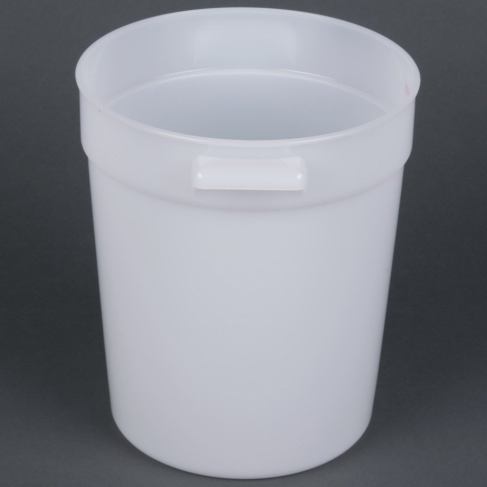Cambro Rfs4148 4 Qt Round White Food Storage Container