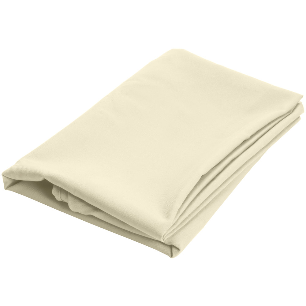 120 round ivory 100 polyester hemmed cloth table cover for 120 round table cover