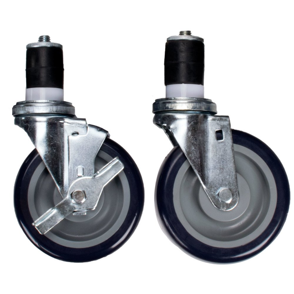 Quot heavy duty swivel stem casters for work tables and