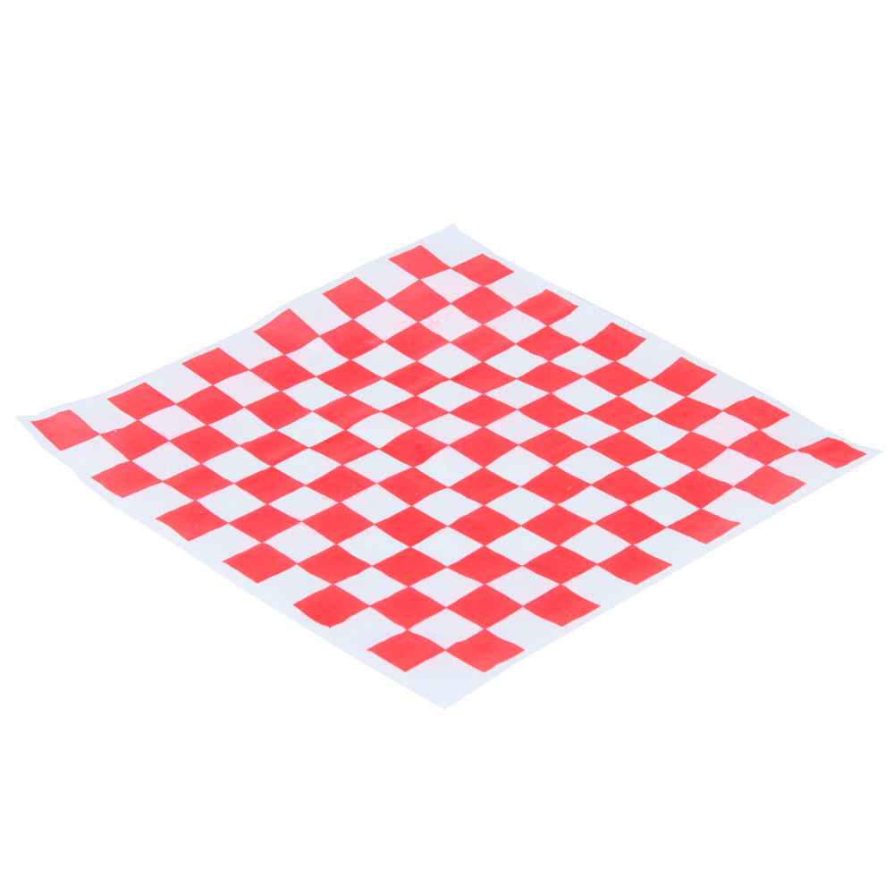 Sandwich Wrapping Paper : Choice quot red check deli sandwich wrap paper