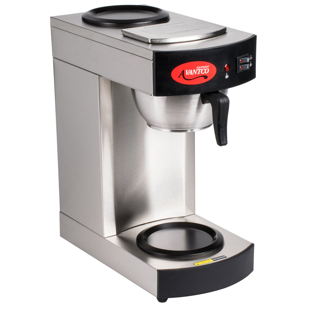 Best Industrial Coffee Maker : Avantco C10 12 Cup Pourover Commercial Coffee Maker with 2 Warmers- 120V