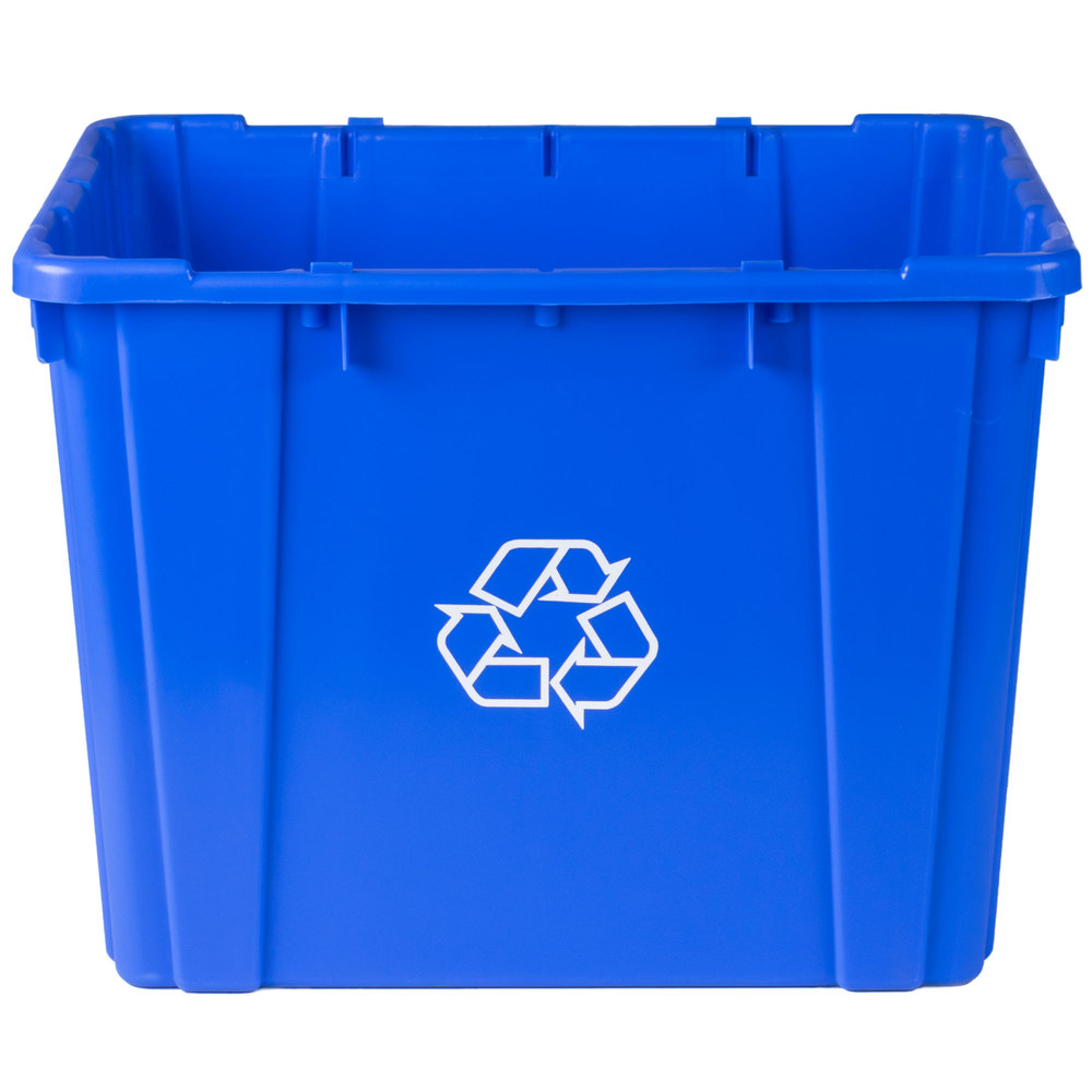 continental 5914 1 blue curbside 14 gallon recycling bin. Black Bedroom Furniture Sets. Home Design Ideas