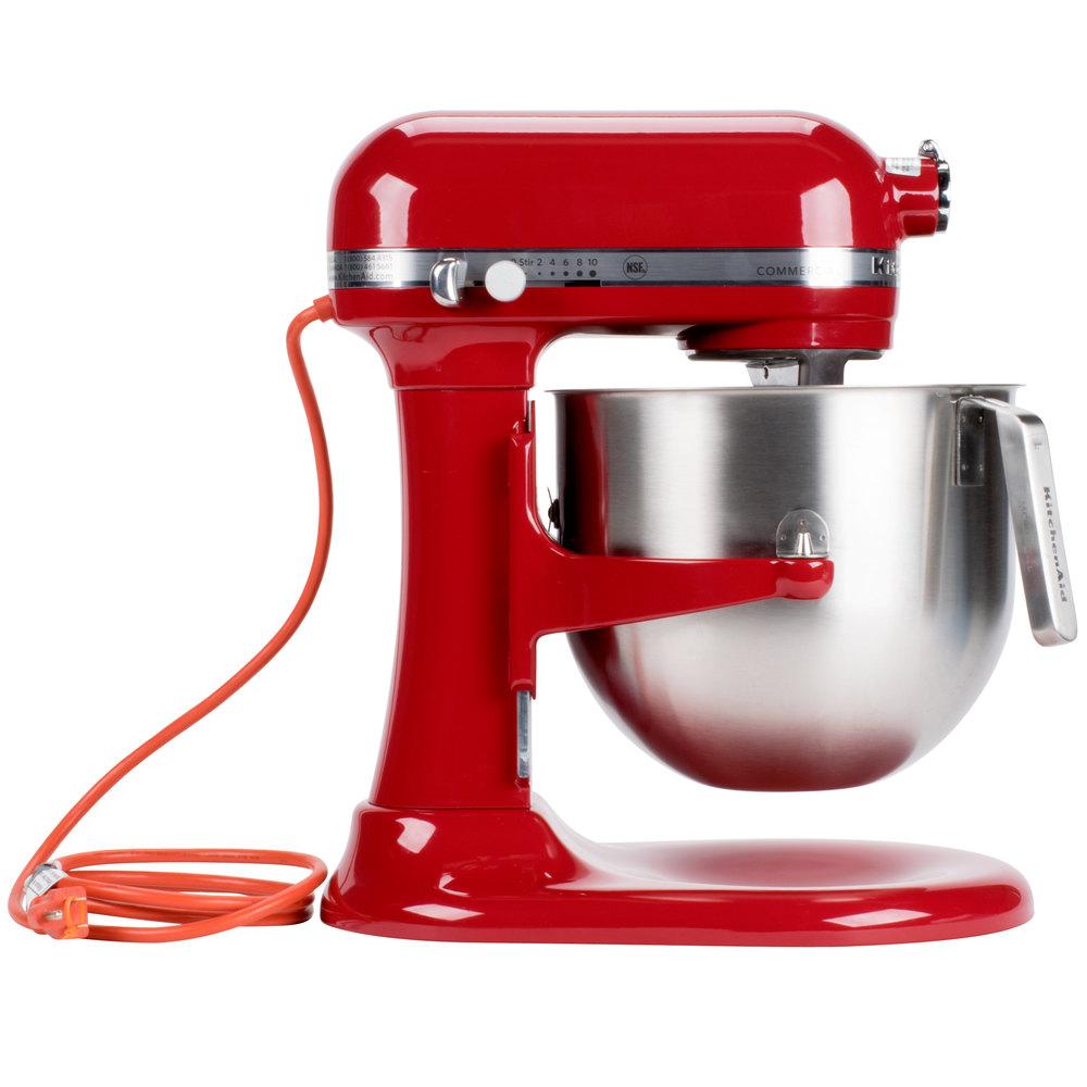 Electric Beater For Kitchenaid Mixer ~ Red kitchenaid qt commercial mixer ksm er