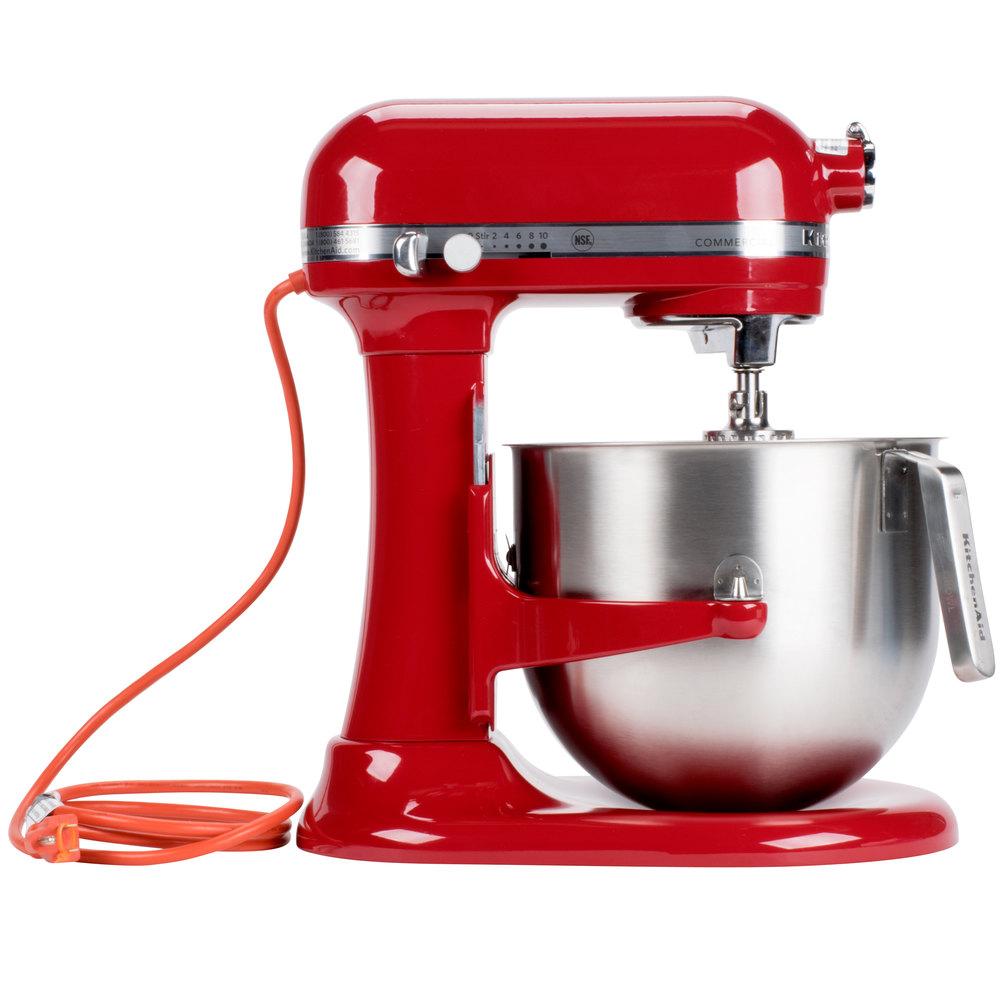 Red Kitchenaid 8 Qt Commercial Mixer Ksm8990er Webstaurantstore