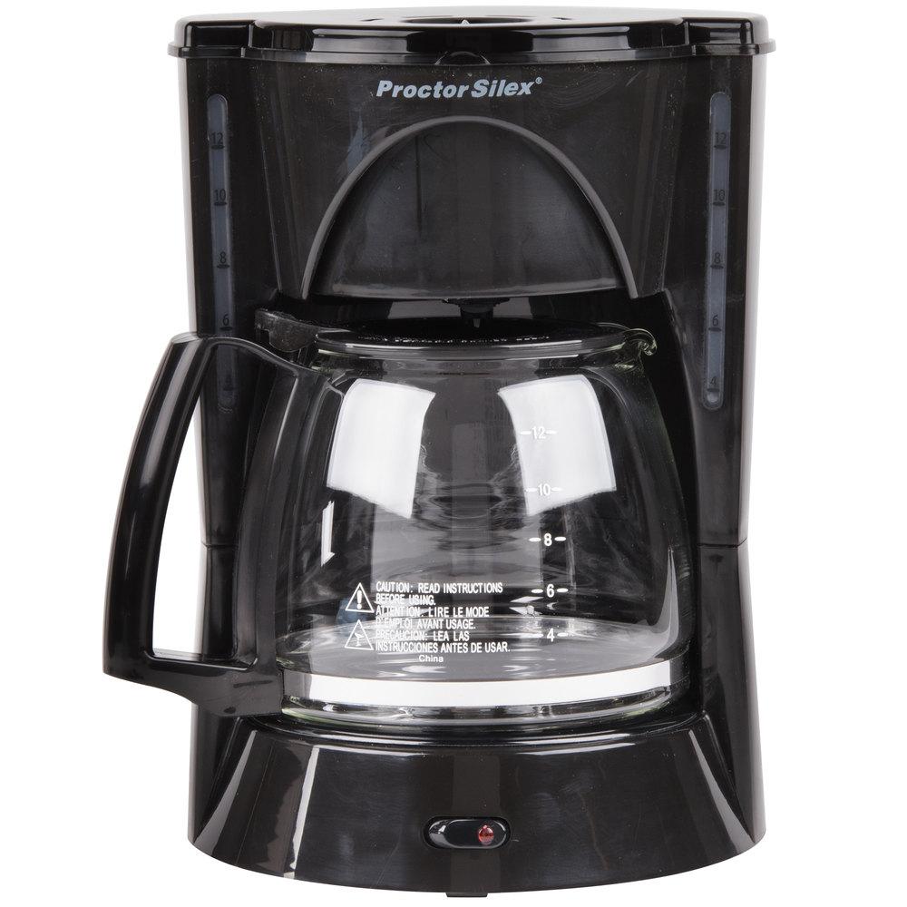 Proctor Silex Coffee Maker Not Working : Proctor Silex 48524RY Black 12 Cup Coffee Maker