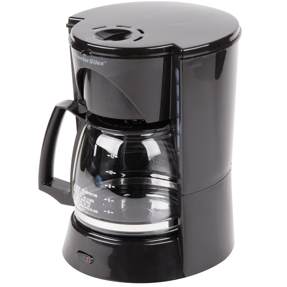 Proctor Silex 48524RY Black 12 Cup Coffee Maker