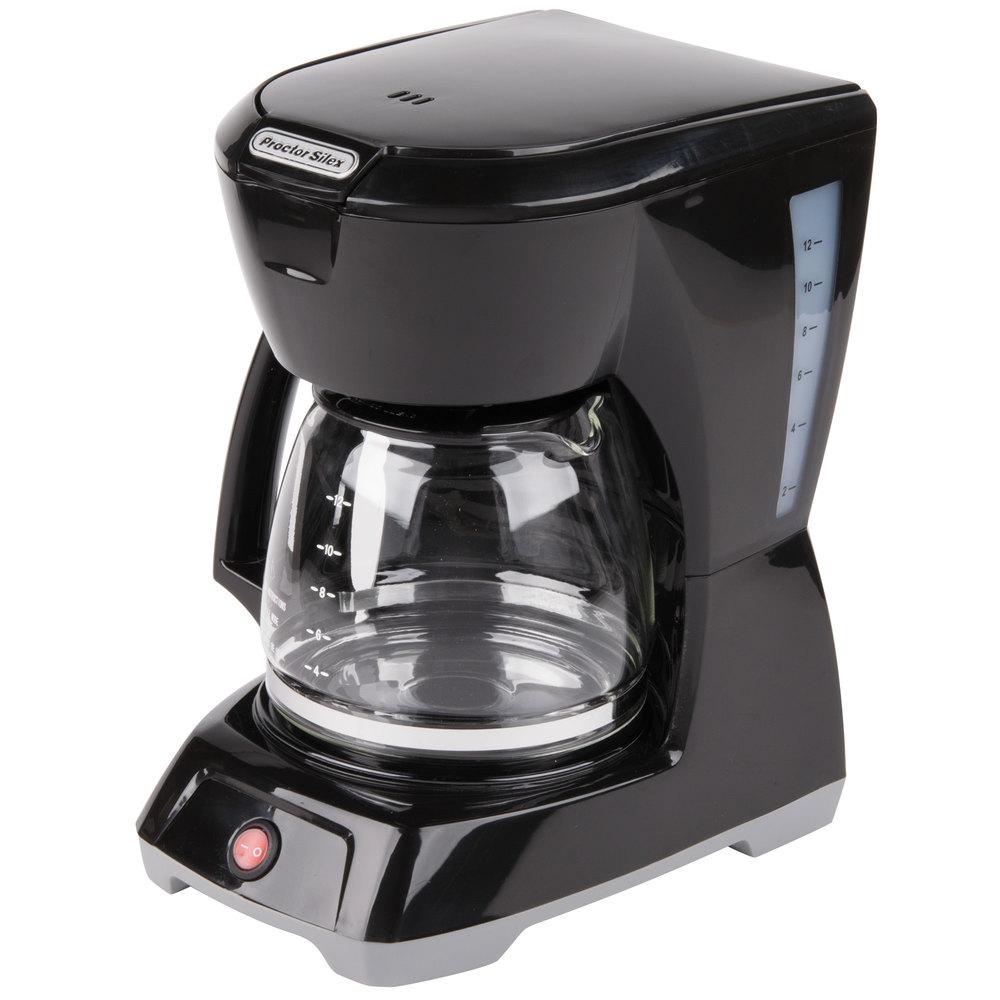 proctor silex 43602 black 12 cup coffee maker. Black Bedroom Furniture Sets. Home Design Ideas